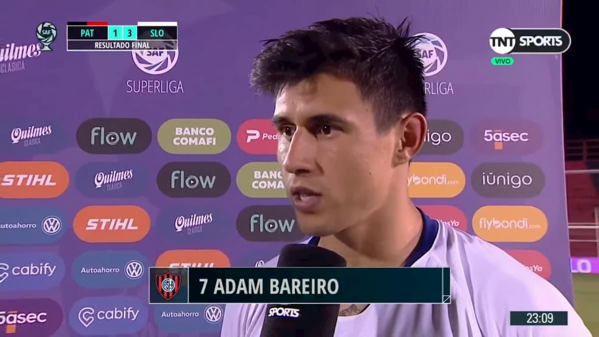 Adam Bareiro habló tras el partido