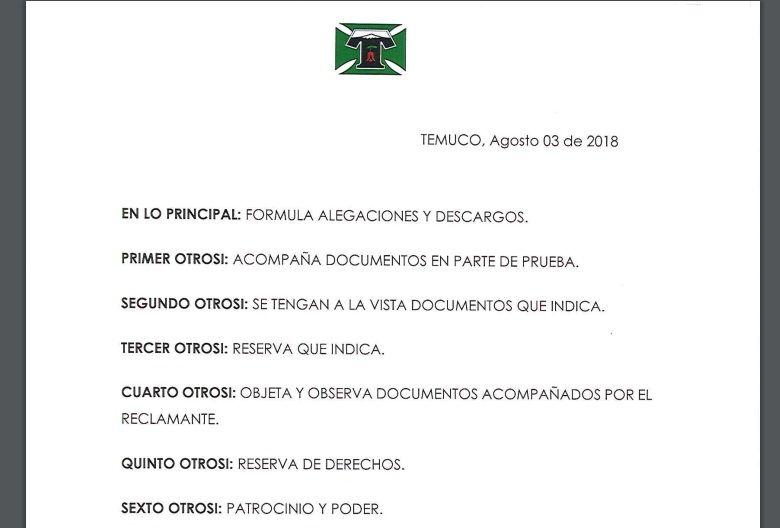 Deportes Temuco Reclamación