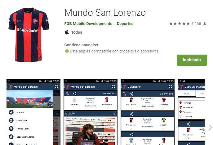 Mundo San Lorenzo app