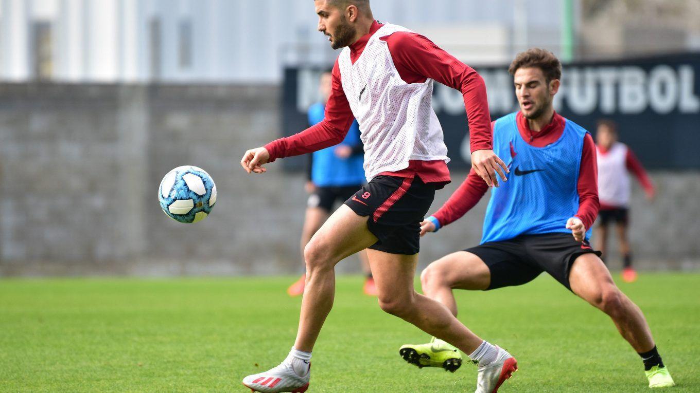 Nicolás Blandi entrenamiento ciudad deportiva