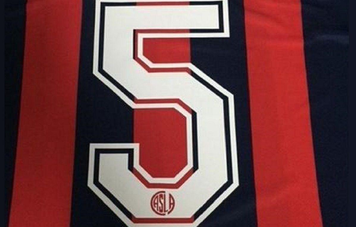 camiseta numero 5 san lorenzo