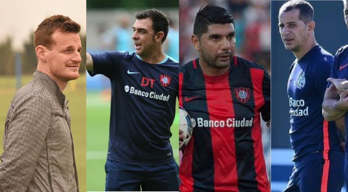 Mauro Cetto, Pablo Guede, Néstor Ortigoza y Leandro Romagnoli