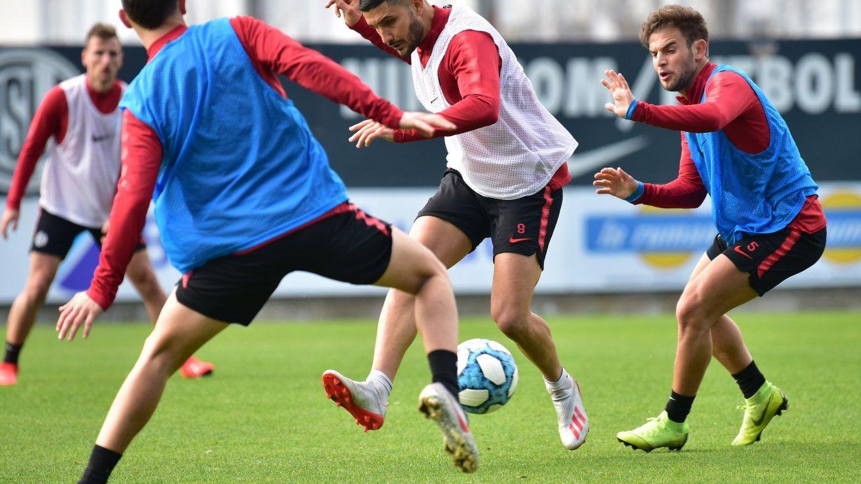 entrenamiento san lorenzo practica futbol