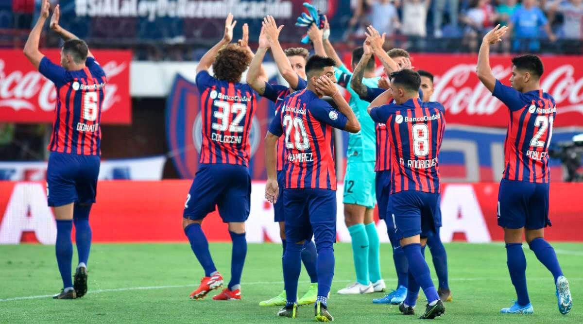 San Lorenzo de Almagro tras la victoria ante River Plate