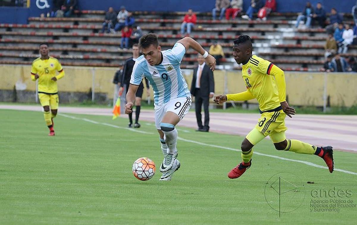 Lautaro Martínez con la Selección Nacional