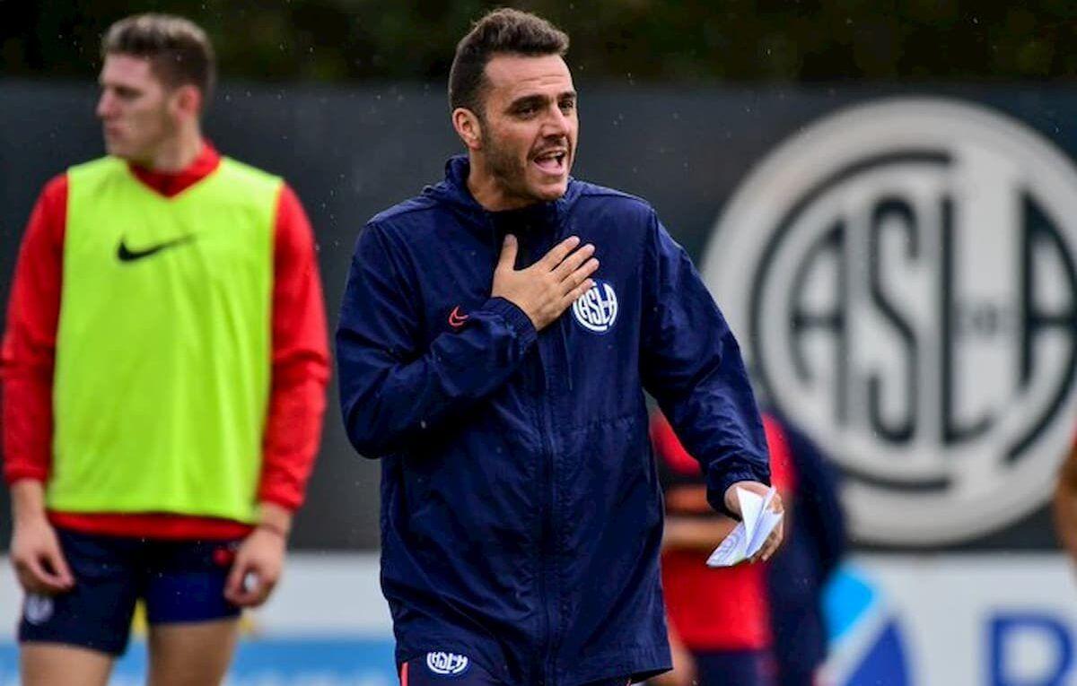 Mariano Soso durante un entrenamiento en Ciudad Deportiva