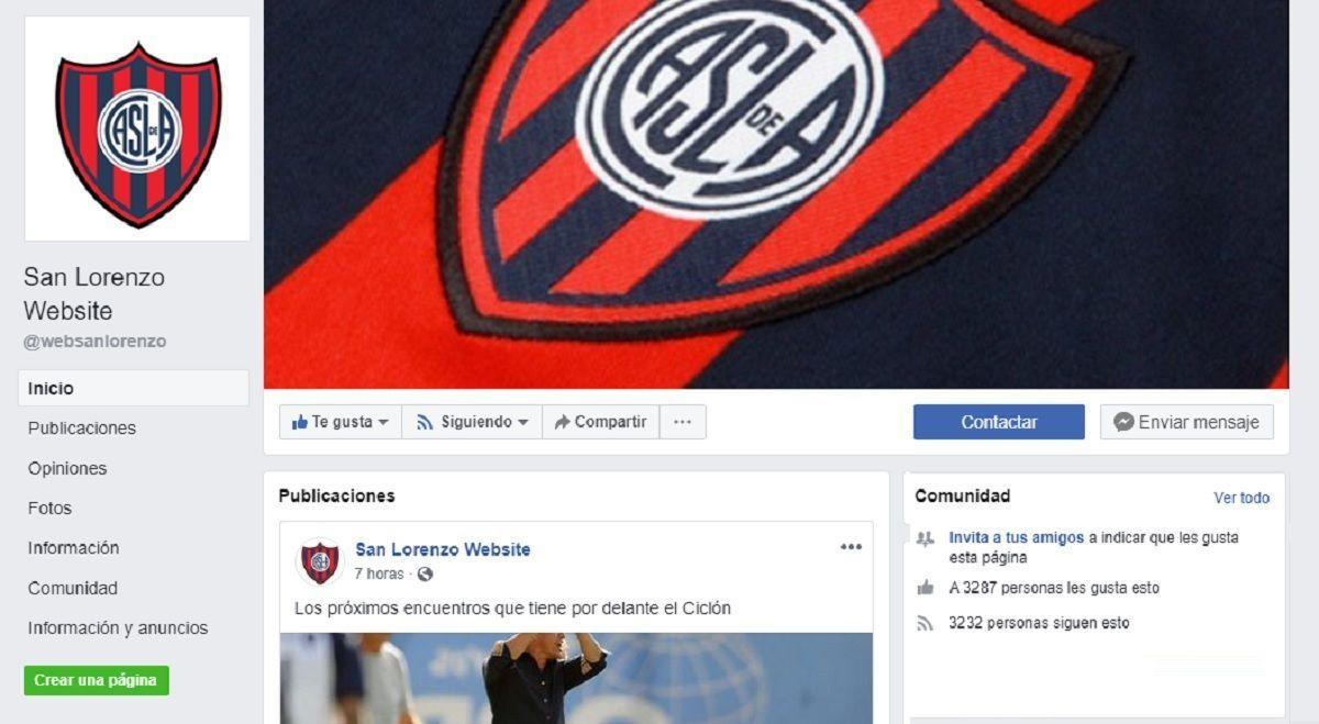 redes sociales san lorenzo