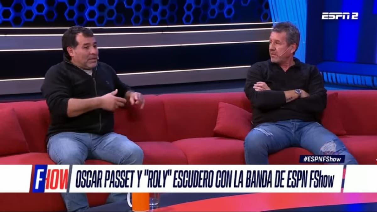 Rolando Escudero y Oscar Passet en ESPN