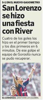 river vs san lorenzo